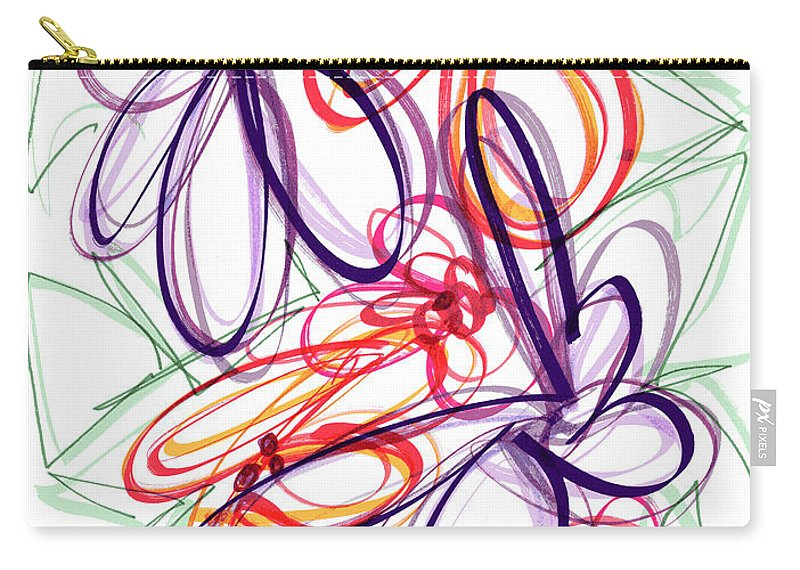 Modern Drawing Carry-all Pouch featuring the drawing Modern Drawing Sixty-six by Lynne Taetzsch