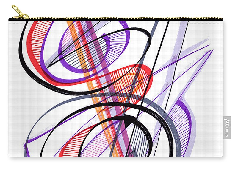 Modern Drawing Carry-all Pouch featuring the drawing Modern Drawing Sixty-two by Lynne Taetzsch
