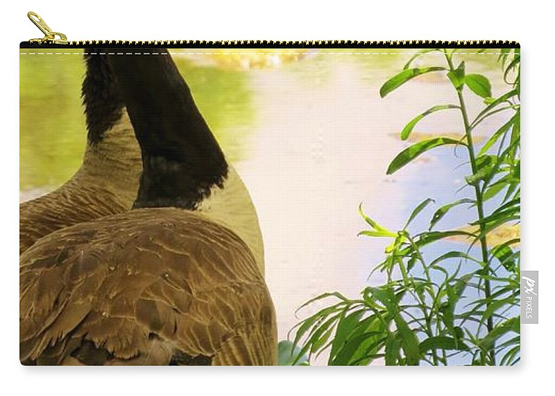 Nature Carry-all Pouch featuring the photograph Modern Family by Art Dingo