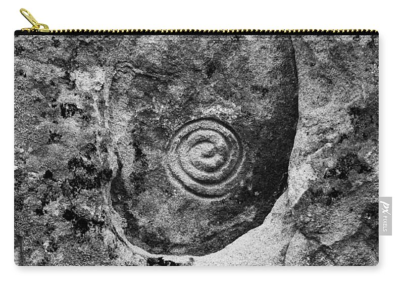 Black And White Carry-all Pouch featuring the photograph Modern Hieroglyphics X by Karen Tagstrom