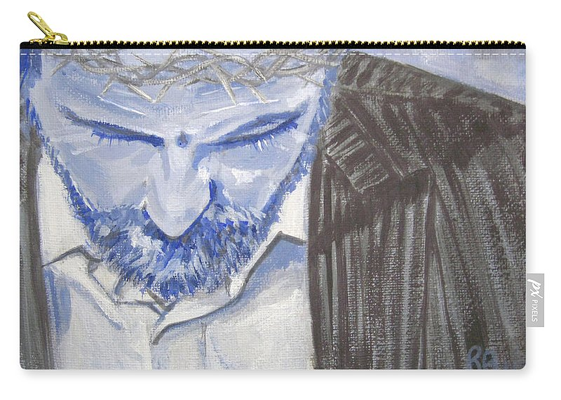 Jesus Carry-all Pouch featuring the painting Modern Passion by Robie Benve