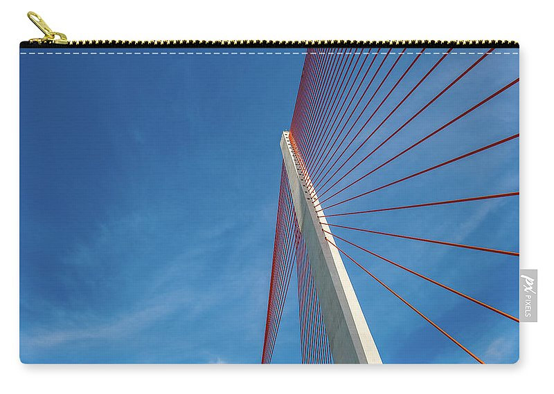 Hanging Carry-all Pouch featuring the photograph Modern Suspension Bridge by Phung Huynh Vu Qui