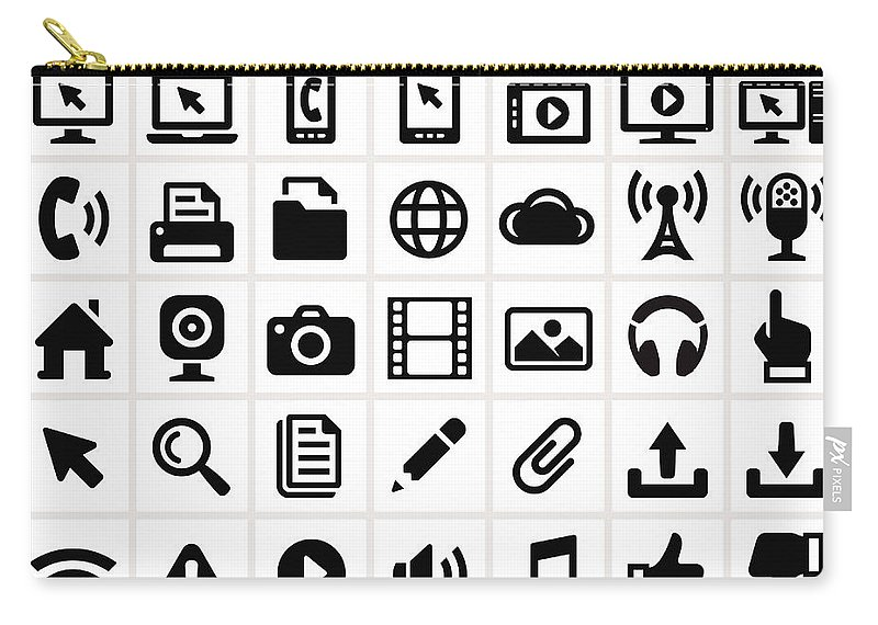 Internet Carry-all Pouch featuring the digital art Modern Technology Internet Social by Bubaone