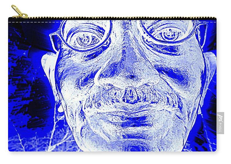 Pop Art Carry-all Pouch featuring the digital art Mohandas Gandhi by Ed Weidman