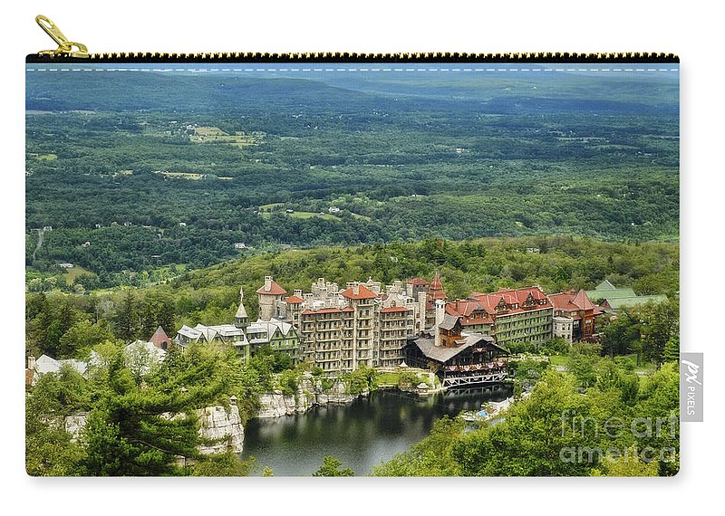 Mohonk Carry-all Pouch featuring the photograph Mohonk by Claudia Kuhn