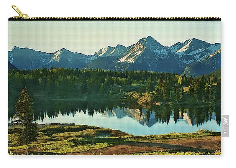 Sunrise Carry-all Pouch featuring the photograph Molas Lake Sunrise by Priscilla Burgers
