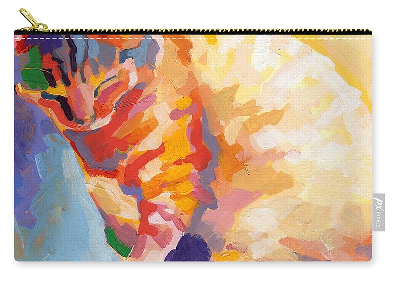 Mona Lisa Carry-all Pouch featuring the painting Mona Lisa's Rainbow by Kimberly Santini