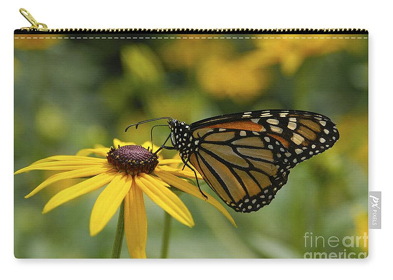 Monarch Butterfly Carry-all Pouch featuring the photograph Monarch Butterfly by Anthony Sacco