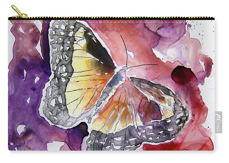 Monarch Carry-all Pouch featuring the painting Monarch Butterfly by Derek Mccrea