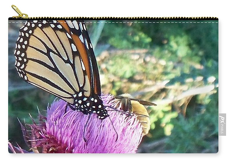 Butterfly Carry-all Pouch featuring the photograph Monarch Butterfly by Eric Schiabor