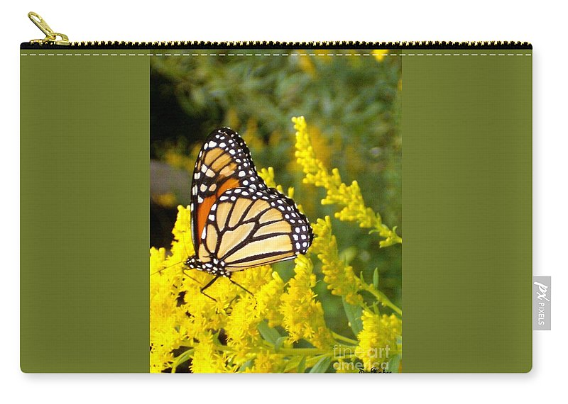 Monarch Carry-all Pouch featuring the photograph Monarch by Sara Raber