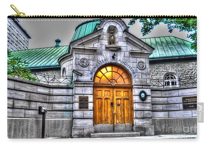 Monastere Des Augustines Carry-all Pouch featuring the photograph Monastere Des Augustines by Bianca Nadeau