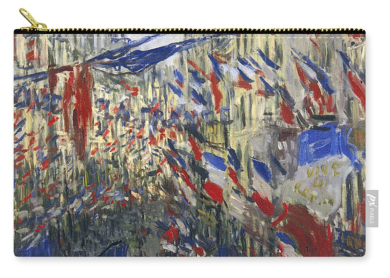 1878 Carry-all Pouch featuring the photograph Monet: Montorgeuil, 1878 by Granger
