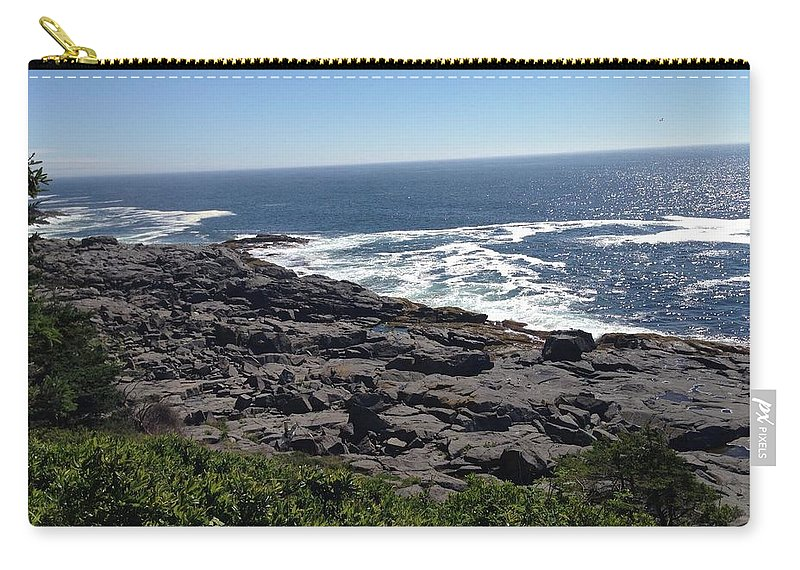 Monhegan Carry-all Pouch featuring the photograph Monhegan Island by Jean Macaluso