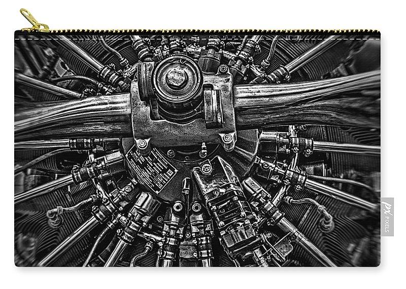 Riat Airshow Carry-all Pouch featuring the photograph Mono Radial by Gareth Burge Photography