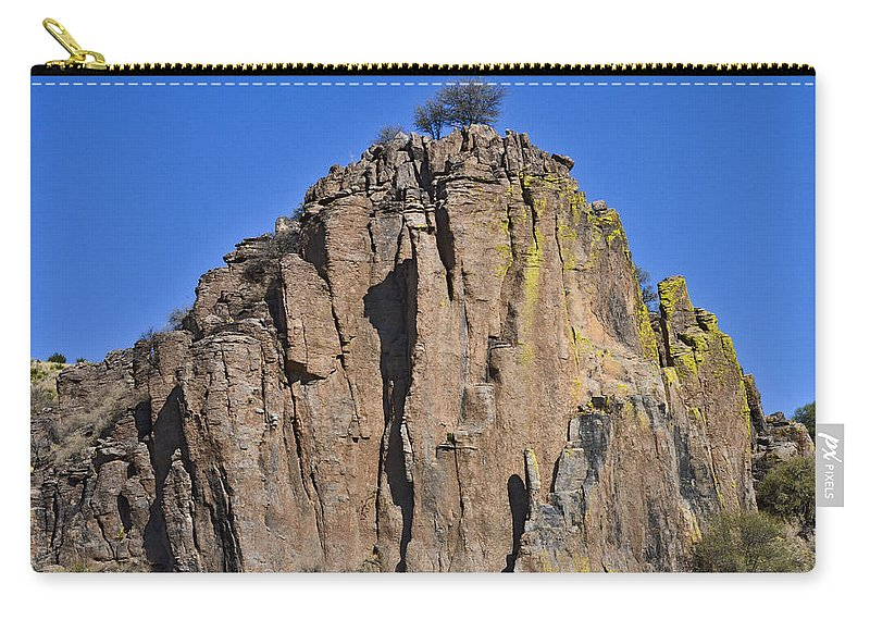 High Desert Carry-all Pouch featuring the photograph Monolith At Indian Lodge by Allen Sheffield