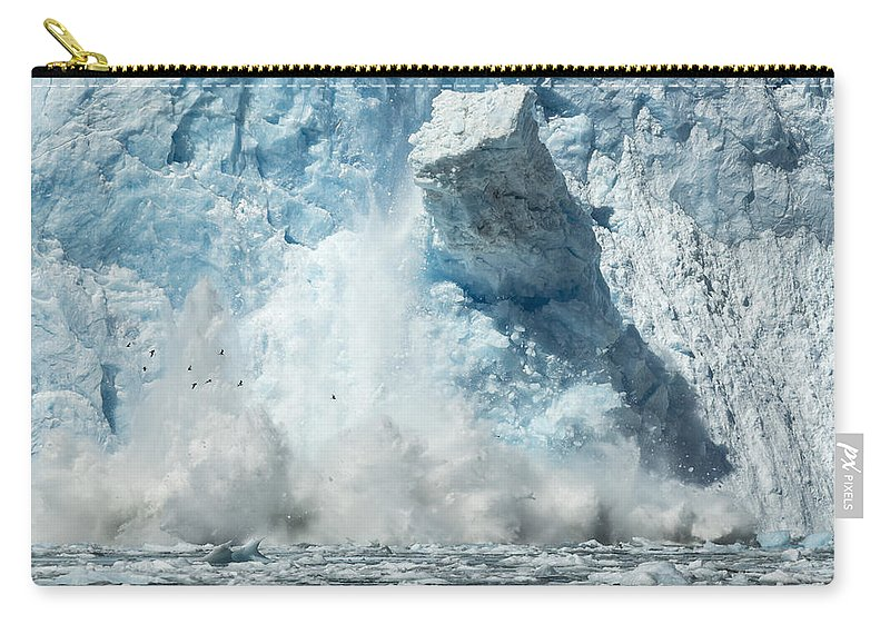 Glacier Carry-all Pouch featuring the photograph Monolith by Ted Raynor