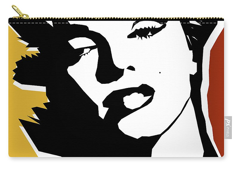 Pop Art Carry-all Pouch featuring the digital art Monroe by Mark Ashkenazi