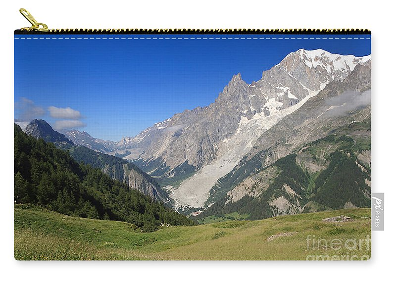 Alpine Carry-all Pouch featuring the photograph mont Blanc from Ferret valley by Antonio Scarpi
