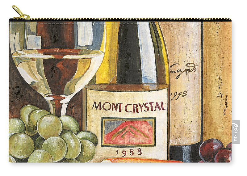 Green Grapes Carry-all Pouch featuring the painting Mont Crystal 1988 by Debbie DeWitt