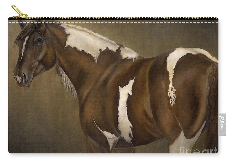 Stallion Carry-all Pouch featuring the painting Montana by Catherine Davis
