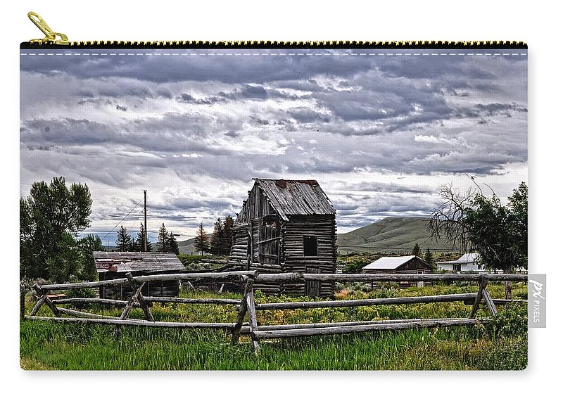 Cabin Carry-all Pouch featuring the photograph Montana by Image Takers Photography LLC