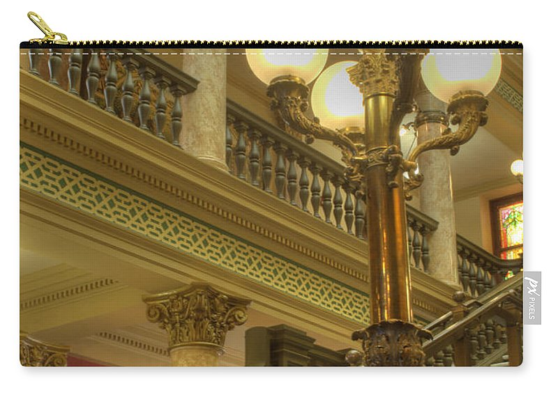 Architecture Carry-all Pouch featuring the photograph Montana State Capitol by Juli Scalzi