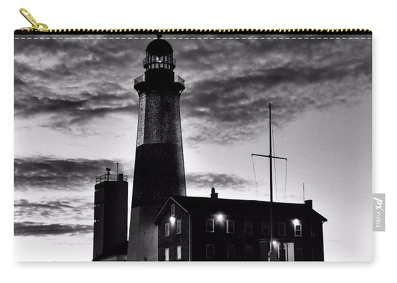 Black Carry-all Pouch featuring the photograph Montauk Point by DJ Florek