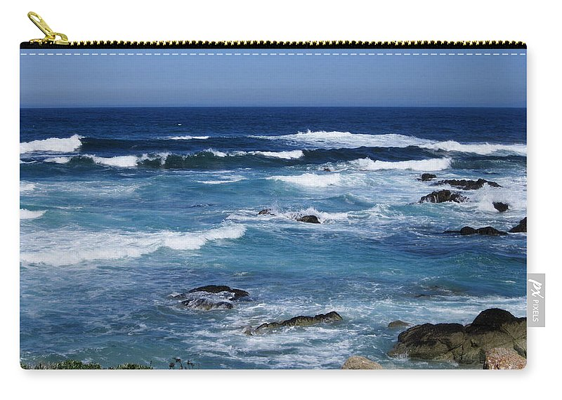 Rocks Carry-all Pouch featuring the photograph Monterey-9 by Dean Ferreira