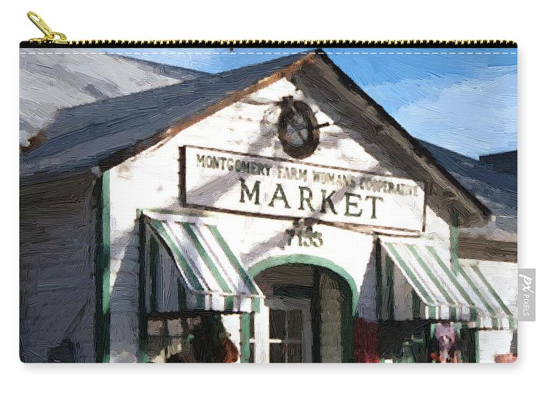 Americana Carry-all Pouch featuring the painting Montgomery County Market by RC deWinter
