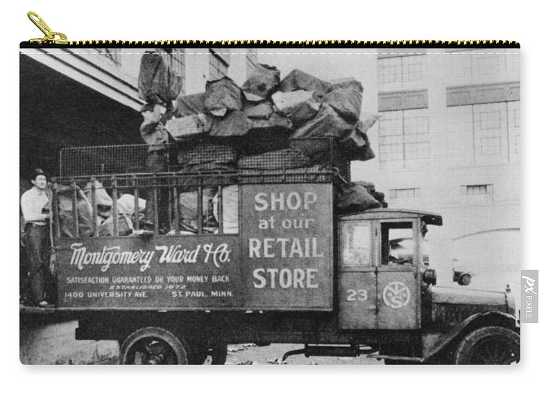 1906 Carry-all Pouch featuring the photograph Montgomery Ward, C1906 by Granger