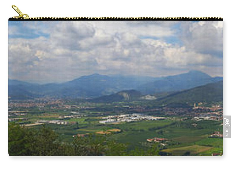 Francacorta Carry-all Pouch featuring the photograph Montorfano. A View To Lake Iseo by Jouko Lehto