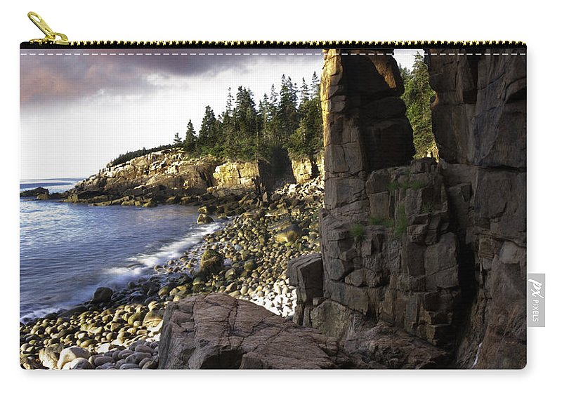 Landscape Carry-all Pouch featuring the photograph Monument Cove Sunrise 4984 by Brent L Ander