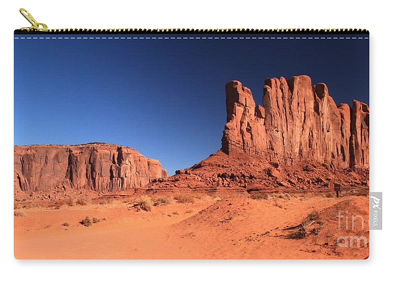 Monument Valley Carry-all Pouch featuring the photograph Monument Spines by Adam Jewell