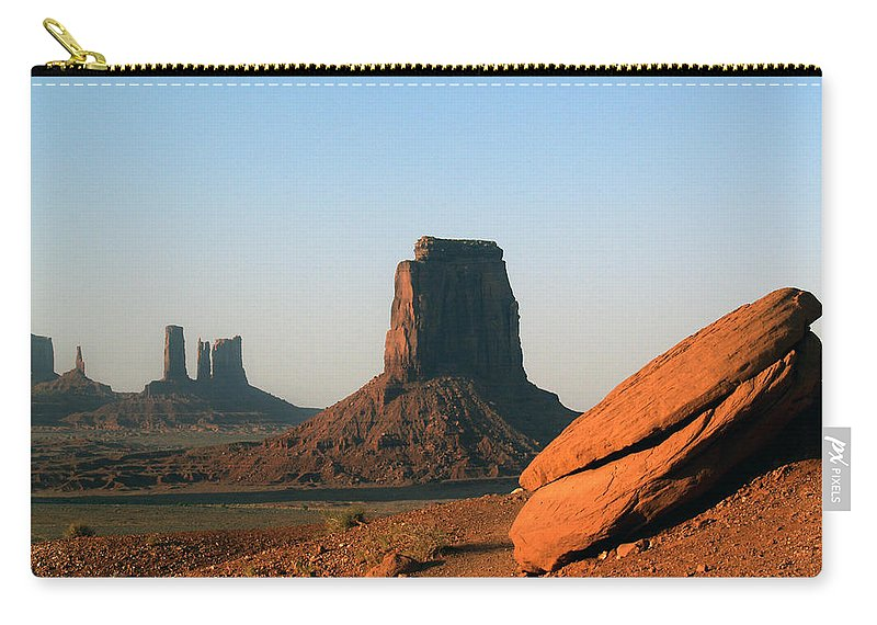 Landscapes Carry-all Pouch featuring the photograph Monument Valley Afternoon by Jeff Brunton