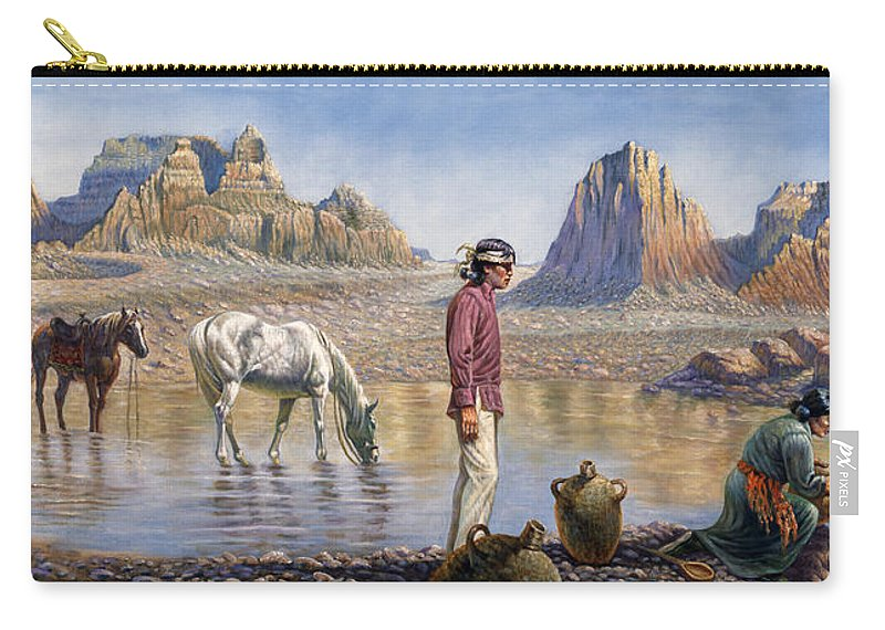 Gregory Perillo Carry-all Pouch featuring the painting Monument Valley by Gregory Perillo