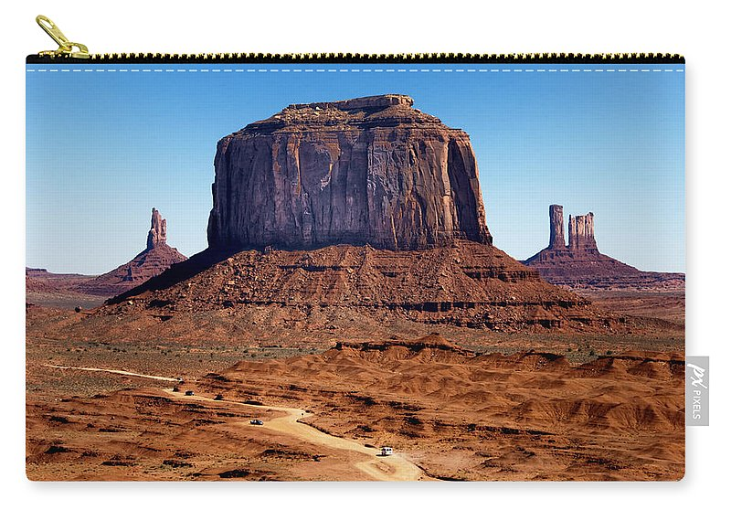 Landscape Carry-all Pouch featuring the photograph Monument Valley Mitten by Jon Berghoff