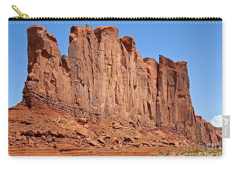 Outdoors Carry-all Pouch featuring the photograph Monument Valley by Susan Herber