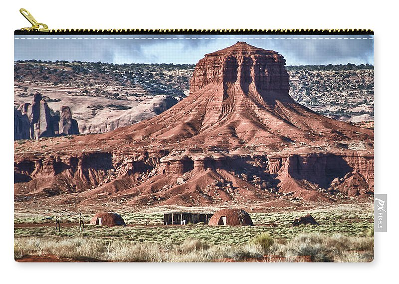 Monument Valley Utah Carry-all Pouch featuring the photograph Monument Valley Ut 7 by Ron White