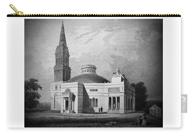 Monumental Church Carry-all Pouch featuring the digital art Monumental Church - 1812 by John Madison