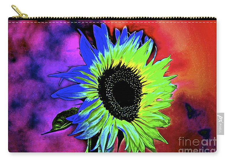 Sunflower Carry-all Pouch featuring the photograph Moody by Gwyn Newcombe