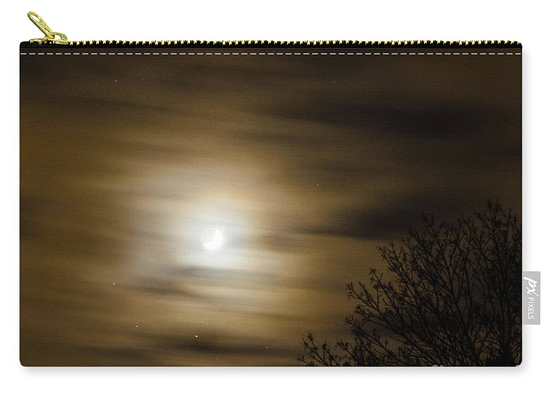 Moon Carry-all Pouch featuring the photograph Moon And Stars by Judy Wolinsky