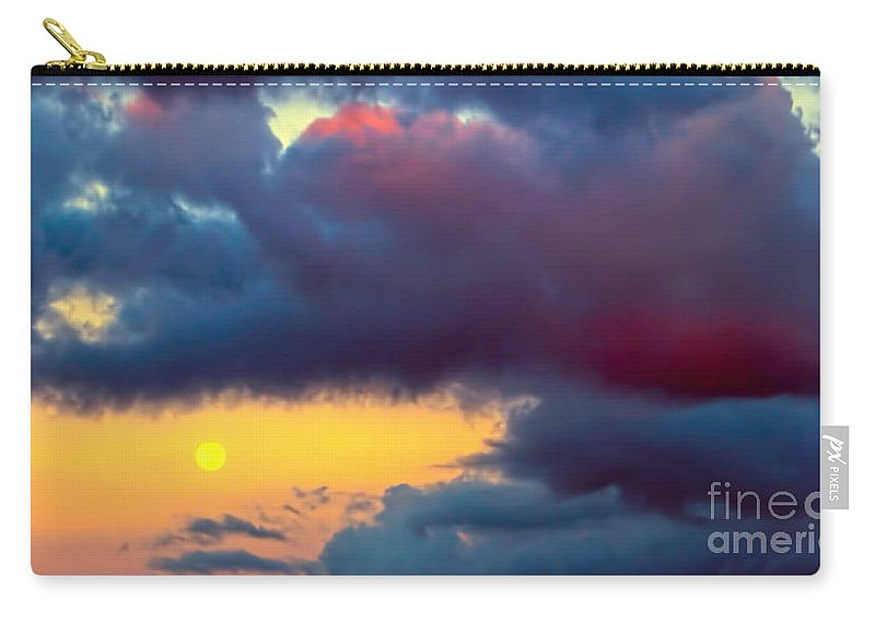 Moon Carry-all Pouch featuring the photograph Moon At Sunset by Olga Hamilton