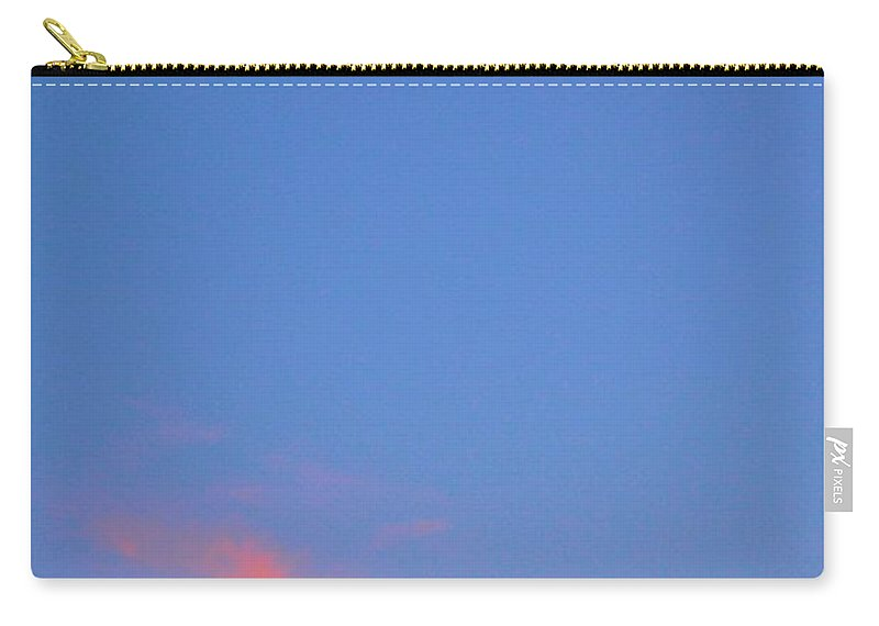 Moon Carry-all Pouch featuring the photograph Moon At Sunset by Tara Potts