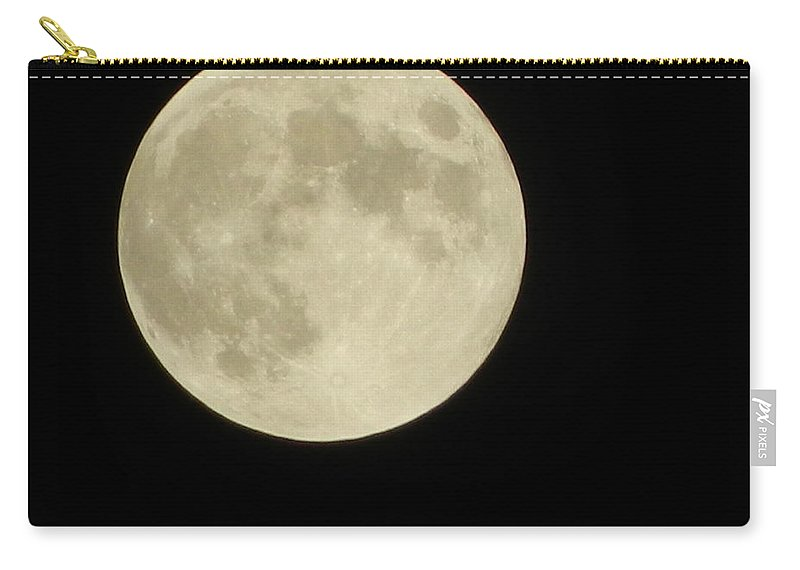Moon Carry-all Pouch featuring the photograph Moon Glow by Kathy Barney