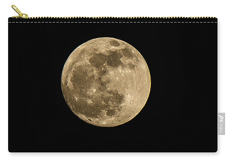 Kansas City Carry-all Pouch featuring the photograph Moon by Ken Kobe