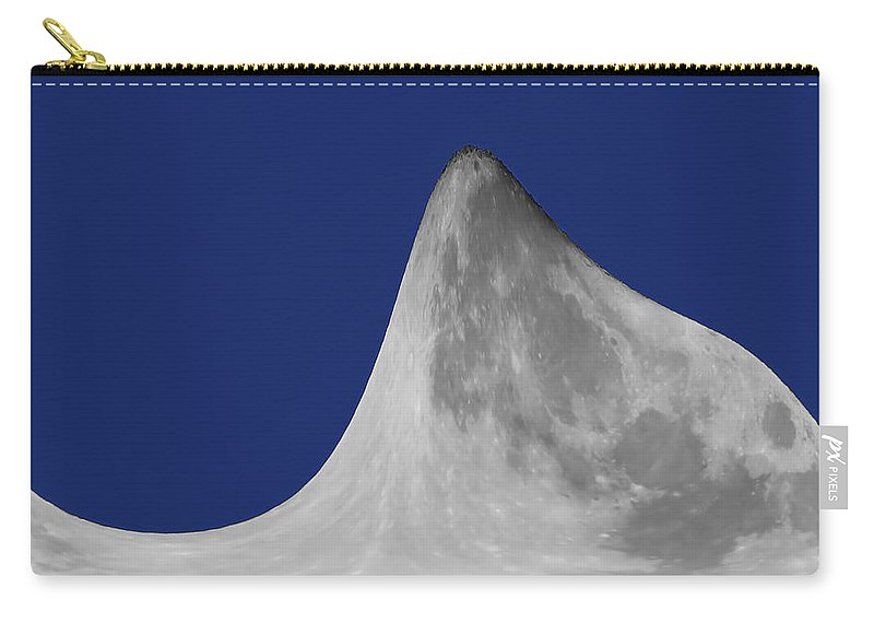 Moon Mountain Carry-all Pouch featuring the digital art Moon Mountain by Ernie Echols