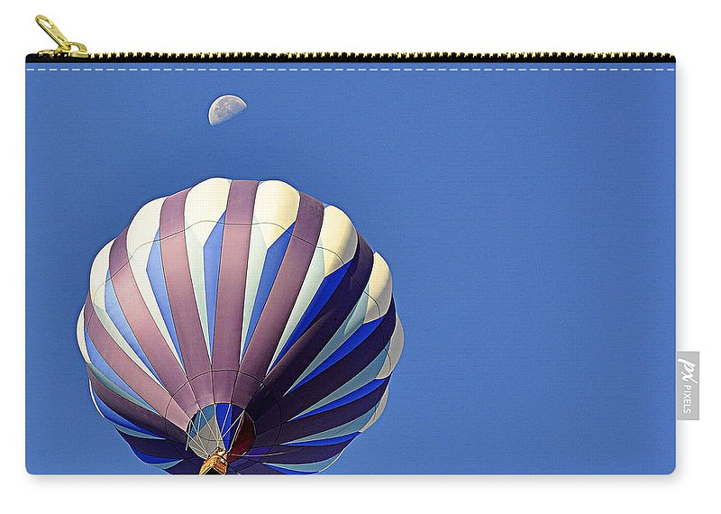 Sports Carry-all Pouch featuring the photograph Moon Over Balloon by AJ Schibig