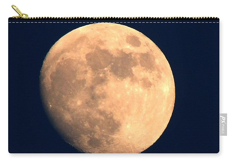 Moon Carry-all Pouch featuring the photograph Moonful by Michele Nelson