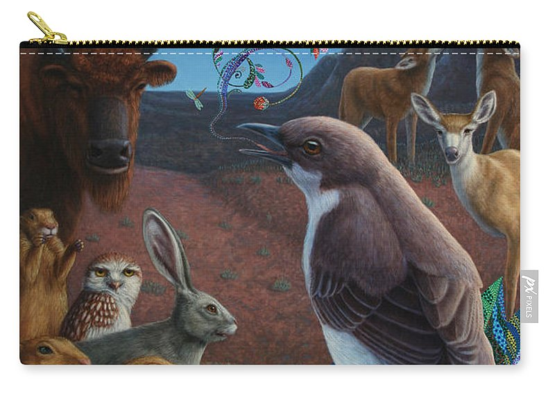 Mockingbird Carry-all Pouch featuring the painting Moonlight Cantata by James W Johnson